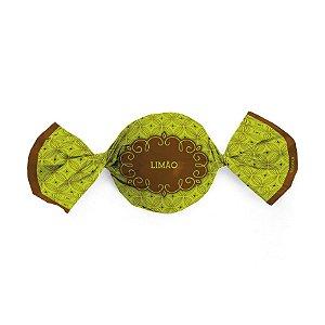 Papel Trufa 14,5x15,5cm - Gostosura Limao - 100 unidades - Cromus - Rizzo Embalagens