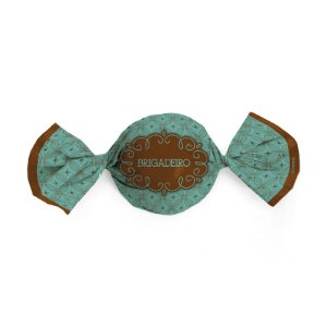 Papel Trufa 14,5x15,5cm - Gostosura Brigadeiro - 100 unidades - Gourmet - Cromus - Rizzo Embalagens