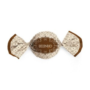 Papel Trufa 14,5x15,5cm - Gostosura Beijinho - 100 unidades - Cromus - Rizzo Embalagens