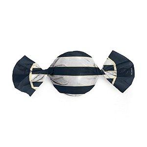 Papel Trufa 14,5x15,5cm - Nautico Azul - 100 unidades - Cromus - Rizzo Embalagens