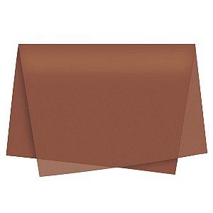 Papel de Seda - 49x69cm - Marrom - 100 folhas - Cromus - Rizzo Embalagens