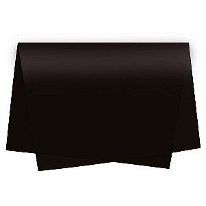 Papel de Seda - 49x69cm - Preto - 100 folhas - Cromus - Rizzo Embalagens