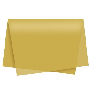 Papel de Seda - 49x69cm - Ouro - 100 folhas - Cromus - Rizzo Embalagens
