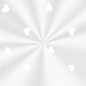 Saco Decorado Love Branco - 10x14cm - 100 unidades - Cromus - Rizzo Embalagens