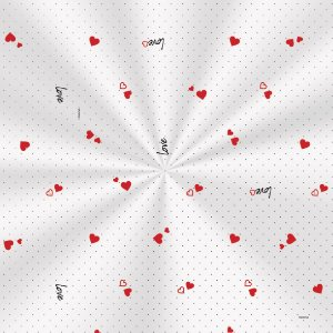 Saco Decorado Mini Love - 10x14cm - 100 unidades - Cromus - Rizzo Embalagens
