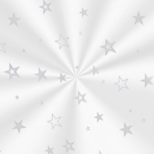 Saco Decorado Estrela Prata - 10x14cm - 100 unidades - Cromus - Rizzo Embalagens