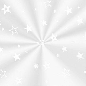 Saco Transparente Decorado Estrela Branca - 10x14cm - 100 unidades - Cromus - Rizzo Embalagens