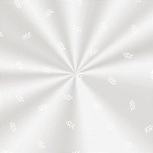 Saco Decorado Raminhos Branco - 10x14cm - 100 unidades - Cromus - Rizzo Embalagens