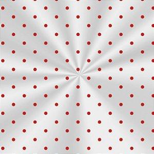 Saco Decorado Poá Vermelho - 10x14cm - 100 unidades - Cromus - Rizzo Embalagens
