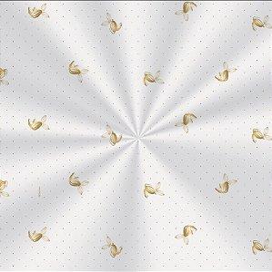 Saco Decorado Sabor Ouro - 11x19,5cm - 100 unidades - Cromus - Rizzo Embalagens