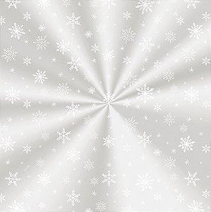 Saco Decorado Floco de Neve - 15x22cm - 100 unidades - Cromus - Rizzo Embalagens