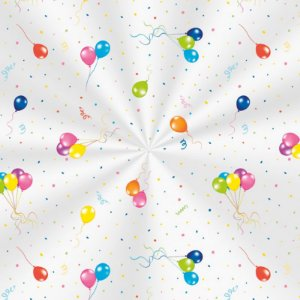 Saco Decorado Festa dos Balões - 15x29cm - 100 unidades - Cromus - Rizzo Embalagens