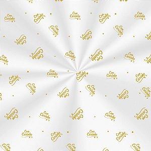 Saco Decorado Carinho Ouro - 15x29cm - 100 unidades - Cromus - Rizzo Embalagens