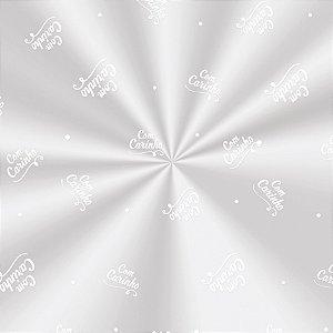 Saco Decorado Carinho Branco - 15x29cm - 100 unidades - Cromus - Rizzo Embalagens
