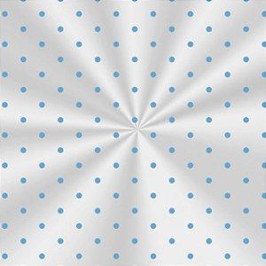 Saco Decorado Poá Azul - 15x29cm - 100 unidades - Cromus - Rizzo Embalagens