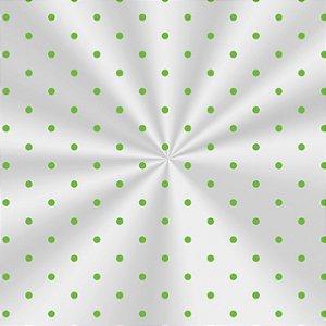 Saco Decorado Poá Verde - 15x29cm - 100 unidades - Cromus - Rizzo Embalagens