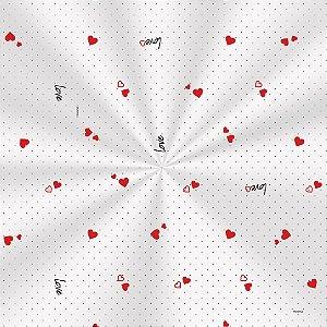 Saco Decorado Mini Love - 20x29cm - 100 unidades - Cromus - Rizzo Embalagens
