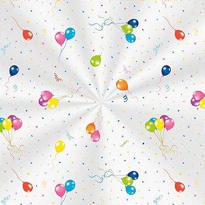Saco Decorado Festa dos Balões - 25x37cm - 100 unidades - Cromus - Rizzo Embalagens