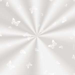 Saco Decorado Borboleta Branca - 25x37cm - 100 unidades - Cromus - Rizzo Embalagens