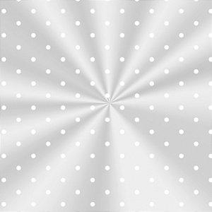 Saco Decorado Poá Branco - 25x37cm - 100 unidades - Cromus - Rizzo Embalagens