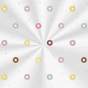 Saco Decorado Donuts - 10x14cm - 100 unidades - Cromus - Rizzo Embalagens