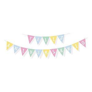 Faixa Feliz Aniversario Festa Pedacinho Do Céu - Cromus - Rizzo Festas