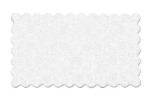 Fundo Rendado Retangular Branco 37x25cm - 100 unidades - Cromus - Rizzo Embalagens