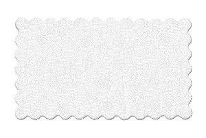 Fundo Rendado Retangular Branco 55x45cm - 100 unidades - Cromus - Rizzo Embalagens