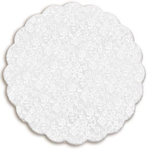 Fundo Rendado Redondo Branco 11cm - 100 unidades - Cromus - Rizzo Embalagens