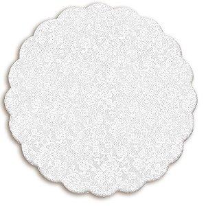 Fundo Rendado Redondo Branco 30cm - 100 unidades - Cromus - Rizzo Embalagens