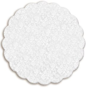 Fundo Rendado Redondo Branco 38cm - 100 unidades - Cromus - Rizzo Embalagens