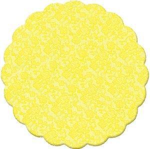 Fundo Rendado Redondo Amarelo 7cm - 100 unidades - Cromus - Rizzo Embalagens