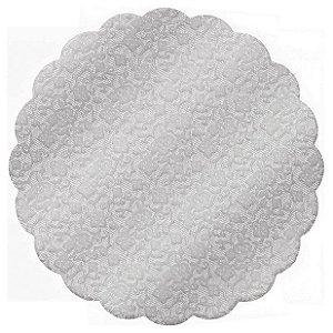 Fundo Rendado Redondo Prata 7cm - 100 unidades - Cromus - Rizzo Embalagens