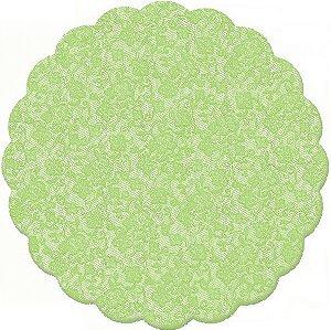 Fundo Rendado Redondo Verde Cítrico 9cm - 100 unidades - Cromus - Rizzo Embalagens