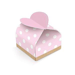 Caixa Bem Nascido Coração Festa Chá Revelação Rosa 24 unidades - Cromus - Rizzo Festas