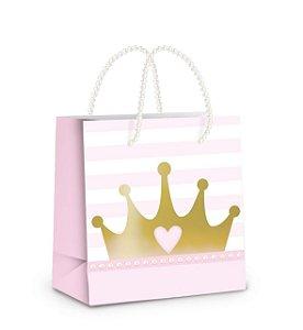 Sacola de Papel p Lembrancinha Festa Reinado da Princesa - 10 unidades - Cromus - Rizzo Festas