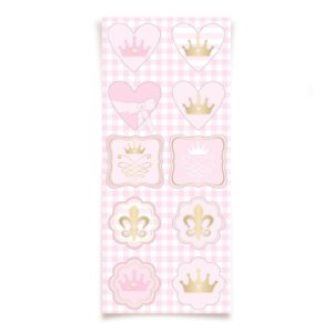 Adesivo Especial para Lembrancinha Festa Reinado da Princesa - 30 unidades - Cromus - Rizzo Festas