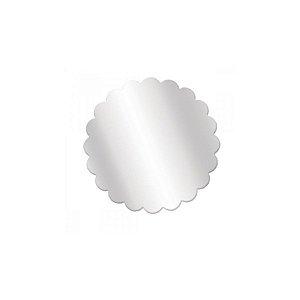 Fundo Rendado Redondo Transparente 7cm - 100 unidades - Cromus Rizzo Embalagens