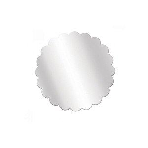 Fundo Rendado Redondo Transparente 9cm - 100 unidades - Cromus Rizzo Embalagens