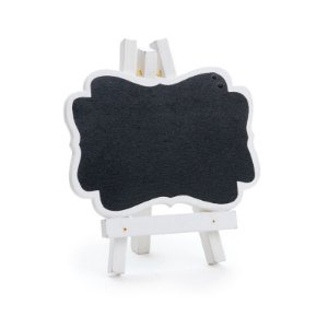 Lousa para Personalizar Cavalete com Borda Branca P - 03 unidades - Cromus - Rizzo Festas
