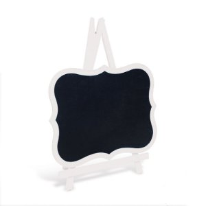Lousa para Personalizar Cavalete com Borda Branca M - 01 unidade - Cromus - Rizzo Festas