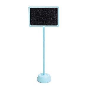 Lousa para Personalizar Retangular com Apoio Azul Claro - 01 unidade - Cromus - Rizzo Festas