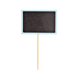 Lousa para Personalizar Pick Azul - 04 unidades - Cromus - Rizzo Festas