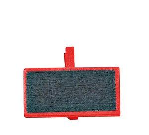 Lousa para Personalizar Prendedor Vermelho - 06 unidades - Cromus - Rizzo Festas
