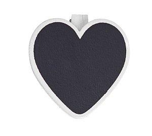 Lousa para Personalizar Prendedor Coração Branco - 06 unidades - Cromus - Rizzo Festas