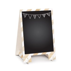 Lousa para Personalizar Cavalete de Papel Natural P - 02 unidades - Cromus - Rizzo Festas