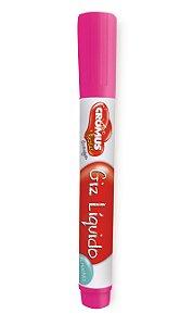 Caneta Giz Líquido Removível Pink - 01 unidade - Cromus - Rizzo Festas