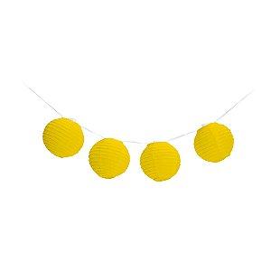 Varalzinho de Globos Amarelo - 01 unidade - Cromus - Rizzo Festas
