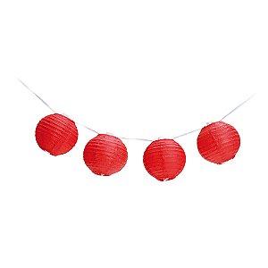 Varalzinho de Globos Vermelho - 01 unidade - Cromus - Rizzo Festas