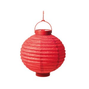Lanterna de Papel Luminosa com Apoio Vermelha 20cm - 01 unidade - Cromus - Rizzo Festas